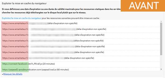 Comment activer la mise en cache du navigateur chez 1and1 ? 6