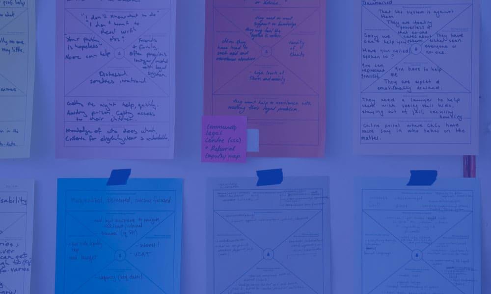 Gestion de projets - notes sur un tableau
